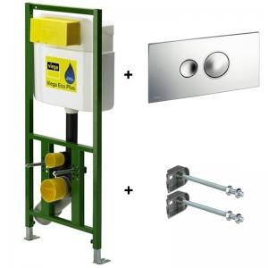 Инсталляция для унитаза подвесного Viega Eco Plus (с кнопкой и крепежом) 8161.93 (660 321) / арт. 660321