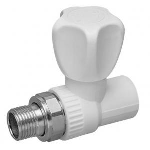 Кран полипропиленовый шаровой для радиатора прямой 20x1/2